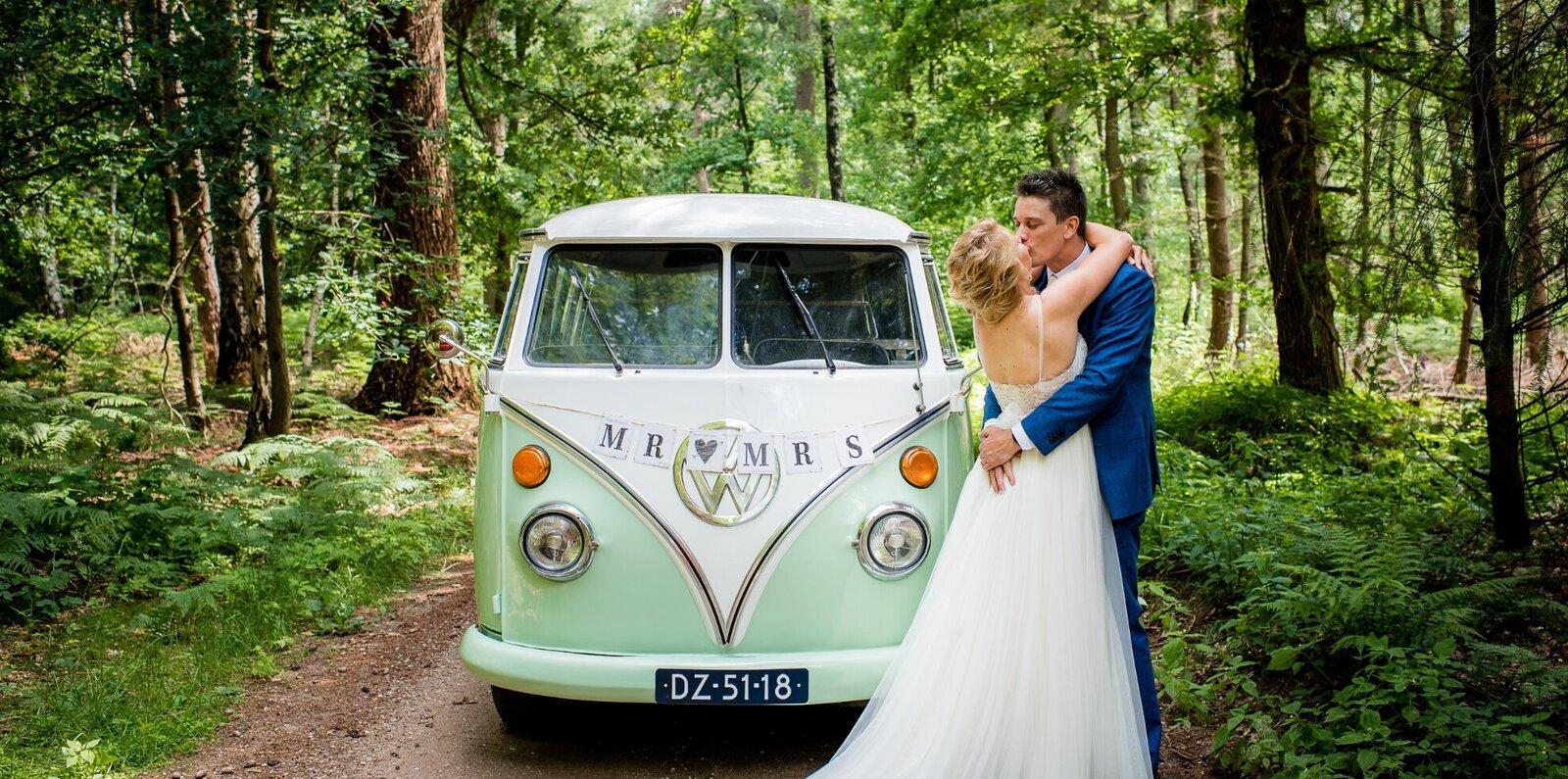 Willen jullie trouwen in het Amsterdamse bos? Groen Trouwen heeft zo'n trouwlocatie voor een echte bosbruiloft.